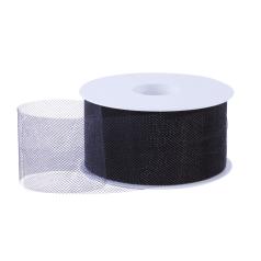 Tule lint - Zwart (50mm)