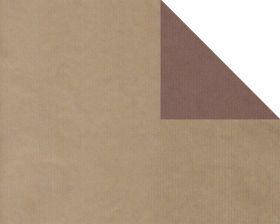 Inpakpapier kraft Uni Bruin (dubbelzijdig)