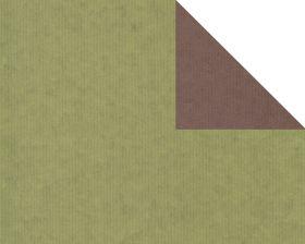 Inpakpapier kraft Uni Groen/bruin (dubbelzijdig)