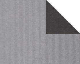 Inpakpapier kraft Uni Zilver/zwart (dubbelzijdig)