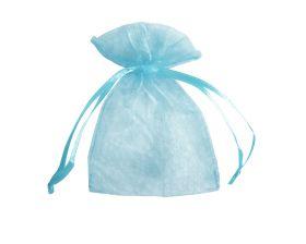 Organza zakje - Baby blauw (12,5x17,5cm)