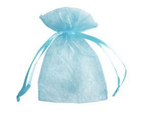 Organza zakje - Baby blauw (15x22,5cm)