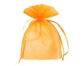 Organza zakje - Oranje (15x22,5cm)