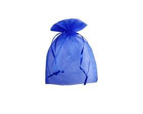 Organza zakje - Royal blue (10x15cm)