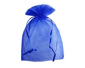 Organza zakje - Royal blue (15x22,5cm)
