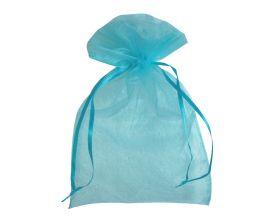 Organza zakje - Turquoise (15x22,5cm)
