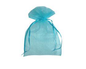 Organza zakje - Turquoise (12,5x17,5cm)