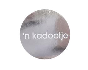 Etiket 'n kadootje - Wit/zilver