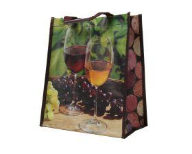 Bigshopper 27x16x32cm dessin: wijn (voor 6 flessen)
