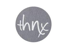 Etiket rond 'thnx'