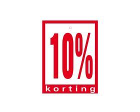 Label met ponsgat '10% korting'