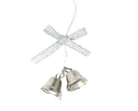Decohanger Kerstbel Zilver