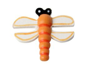 Decoplakker Libelle Oranje