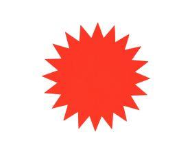 Prijskaart Ster - Fluor rood