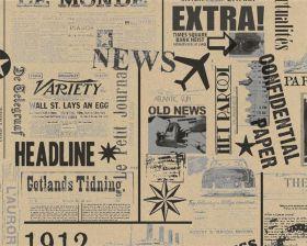 kraft inpakpapier met krantdessin
