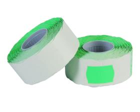 Prijstangetiket golf - Groen (26x16mm)
