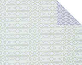 Inpakpapier Graphic Green/Grey, 50cm