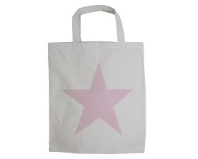 Katoenen draagtas Star - Roze