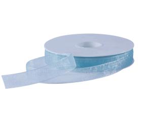 Organza lint - Aqua (15mm)
