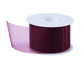 Organza lint - Bordeaux (50mm)