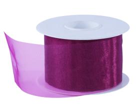 Organza lint - Donker roze (50mm)