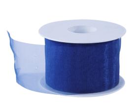 Organza lint - Donkerblauw (50mm)