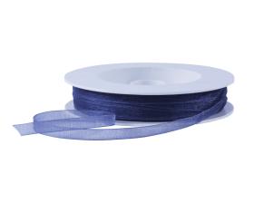 Organza lint - Donkerblauw (7mm)