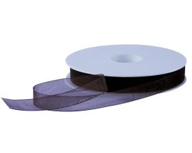 Organza lint - Donkerbruin (15mm)