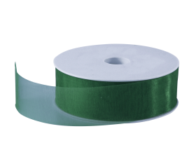Organza lint - Donkergroen (30mm)