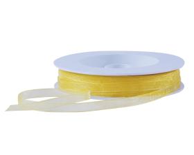 Organza lint - Geel (7mm)