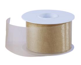 Organza lint - Goud (50mm)