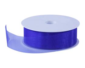 Organza lint - Kobalt blauw (30mm)