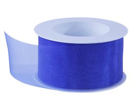 Organza lint - Kobalt blauw (50mm)