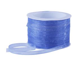 Organza lint - Middenblauw (7mm)
